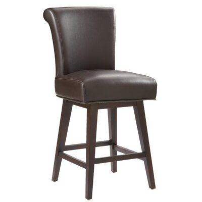 5West Hamlett 26 Swivel Bar Stool Upholstery: Brown