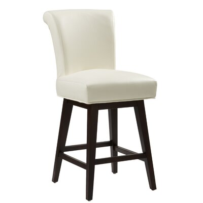 5West Hamlett 26 Swivel Bar Stool Upholstery: Ivory