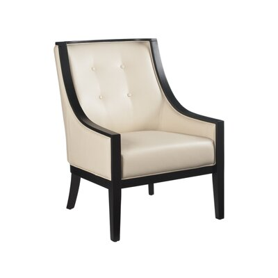 Habitat Cyrano Armchair Color: Bonded Leather Cream