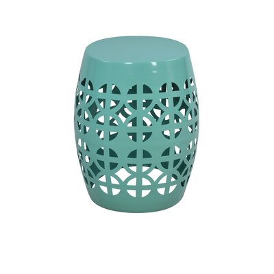 Artisan Garden Stool Finish: Aqua