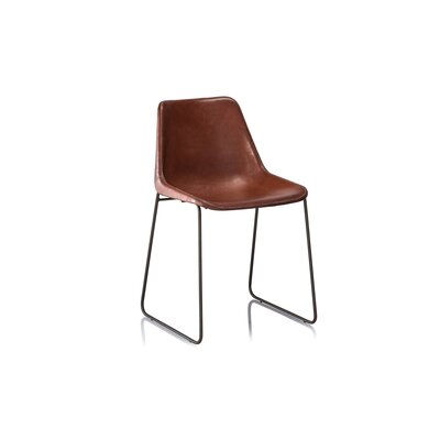 Hudson Side Chair Upholstery: Brown