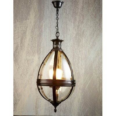 3-Light Tear Drop Foyer Pendant Finish: Bronze