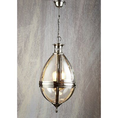 3-Light Tear Drop Foyer Pendant Color: Nickel