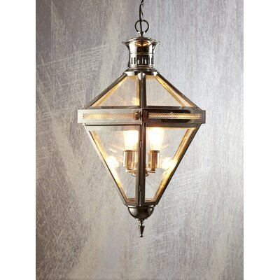 3-Light Foyer Pendant Finish: Nickel