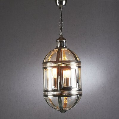 3-Light Capsule Hanging Lamp Color: Nickel