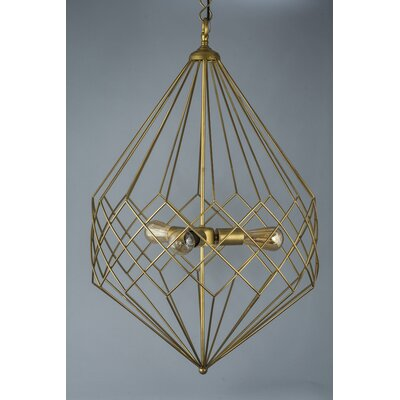 3-Light Foyer Pendant Finish: Gold