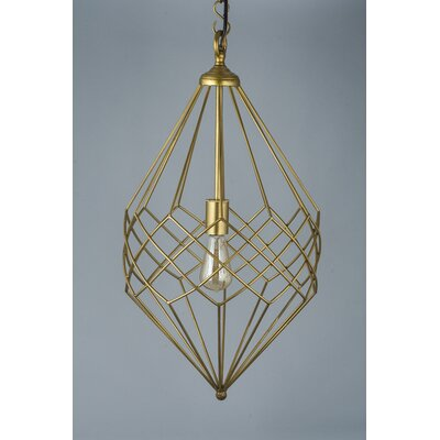 1-Light Foyer Pendant Color: Gold