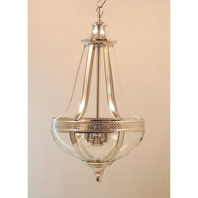 French 3-Light Empire Chandelier Color: Nickel