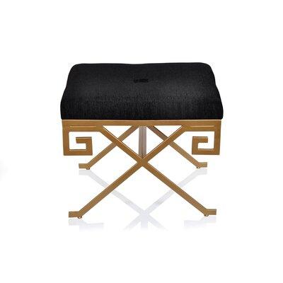 Greek Ottoman Upholstery: Black