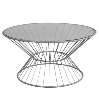 Fashion N You Wire Coffee Table with Glass Top H-1130