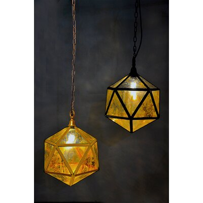 Prisim Mercury Glass 1-Light Globe Pendant Finish: Gold