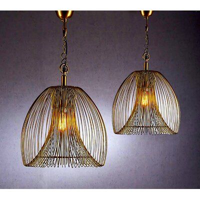 Lawrence 1-Light Foyer Pendant Size: Small