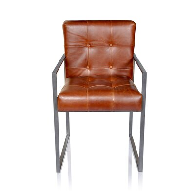 Rome Leather Armchair Upholstery: Tobacco