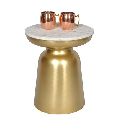 Luxe End Table Color: Brass