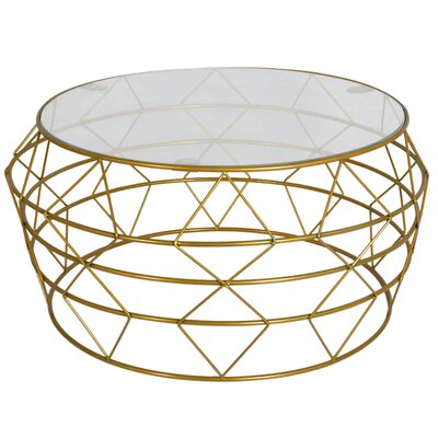 Gideoon Coffee Table Base Color: Gold
