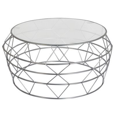 Gideoon Coffee Table Base Color: Silver