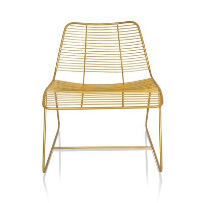 New York Metal Linear Side Chair Color: Gold