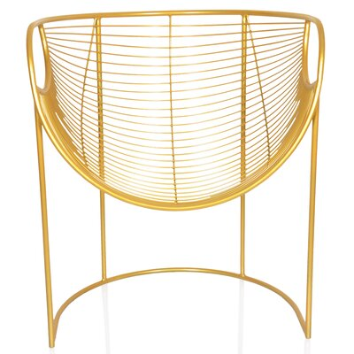 New York Papasan Chair Color: Gold