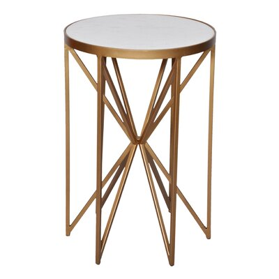 Aquarius Butterfly End Table Color: Gold