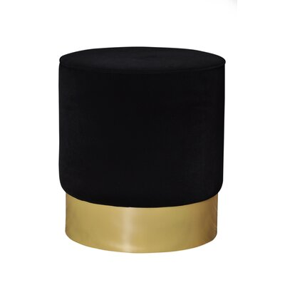 Natosha Solid Ottoman Upholstery: Black