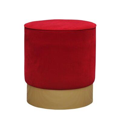 Natosha Solid Ottoman Upholstery: Red