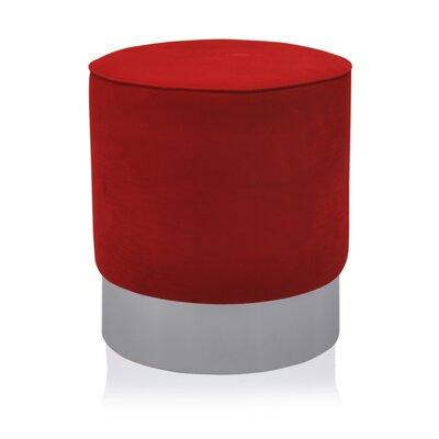 Natosha Ottoman Upholstery: Red