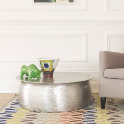 Hammered Coffee Table Finish: Aluminium