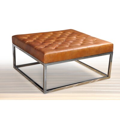 Trever Modern Square Coffee Table Base Color: Silver, Top Color: Brown
