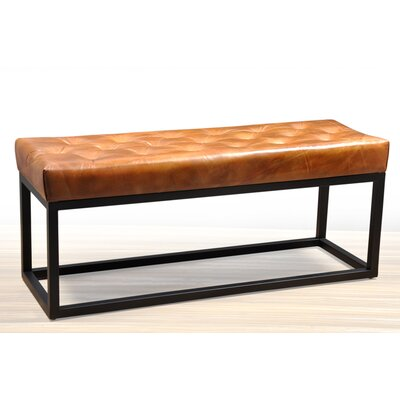Amazing Trent Austin Design Adelinda Metal And Leather Bench Squirreltailoven Fun Painted Chair Ideas Images Squirreltailovenorg