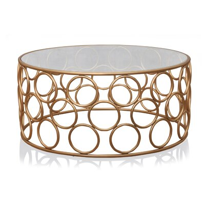 Pirtle Coffee Table Color: Gold