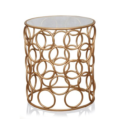 Pirtle End Table Color: Gold