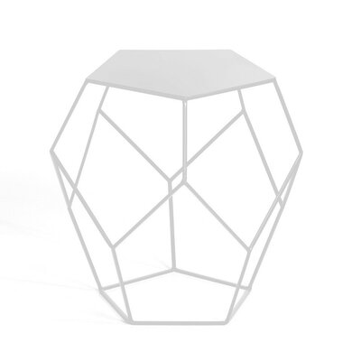 Allbright Diamond End Table Color: White