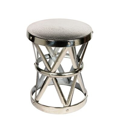 Hammered Drum Cross Table / Stool Color: Nickel