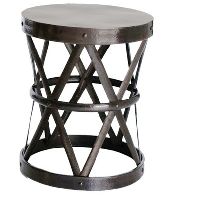 Hammered Drum Cross Table / Stool Color: Dark Bronze