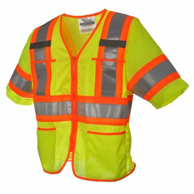Viking Wear Safety T Vest - Size: X-Large, Color: Fluorescent Green at Sears.com
