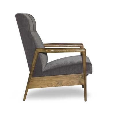 Kona Recliner Finish: Honey, Upholstery: Bellisimo Pewter