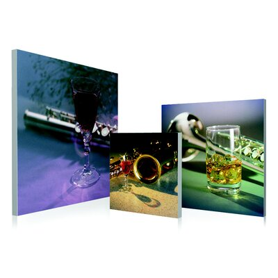 Musical Instrument 3 Piece Framed Photographic Print Set