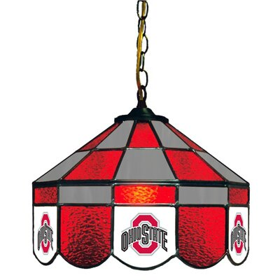 NCAA 14 Wide Swag Hanging Lamp Style: Executive, NCAA Team: Ohio State - Style 2