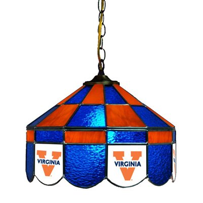 NCAA 14 Wide Swag Hanging Lamp Style: Classic, NCAA Team: Virginia - Alternate 2