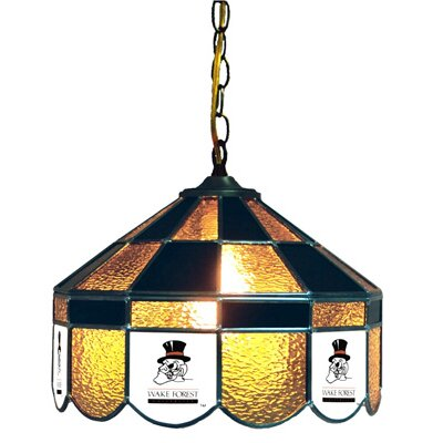 NCAA 14 Wide Swag Hanging Lamp Style: Classic, NCAA Team: Wake Forest