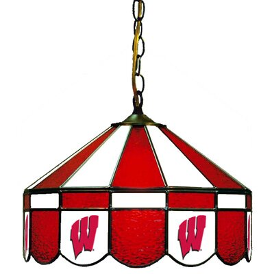 NCAA Wide Swag Hanging Lamp NCAA Team: Wisconsin - W Logo
