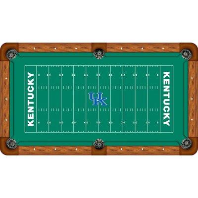 Wave 7 NCAA Football Field Recreational Billiard Table Felt - NCAA Team: Kentucky, Size: 7'
