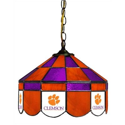 NCAA 14 Wide Swag Hanging Lamp Style: Executive, NCAA Team: Clemson