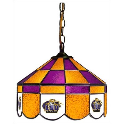 NCAA 14 Wide Swag Hanging Lamp Style: Executive, NCAA Team: LSU
