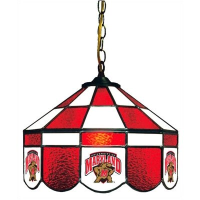 NCAA 14 Wide Swag Hanging Lamp Style: Executive, NCAA Team: Maryland