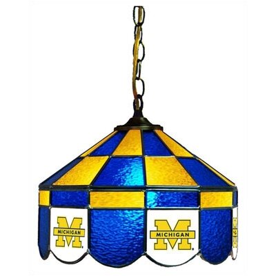 NCAA 14 Wide Swag Hanging Lamp Style: Executive, NCAA Team: Michigan