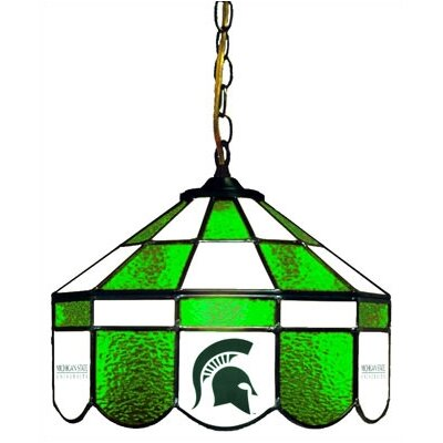 NCAA 14 Wide Swag Hanging Lamp Style: Normal, NCAA Team: Michigan State