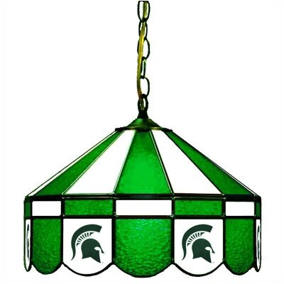 NCAA Wide Swag 1-Light Bowl Pendant NCAA Team: Michigan State