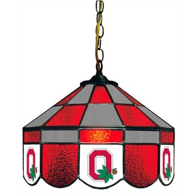 NCAA 14 Wide Swag Hanging Lamp Style: Executive, NCAA Team: Ohio State - Style 1