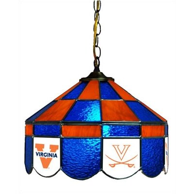 NCAA 14 Wide Swag Hanging Lamp Style: Executive, NCAA Team: Virginia - Alternate 1